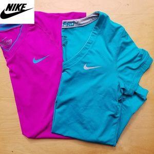 Nike Dri Fit Athletic Shirts Two Medium